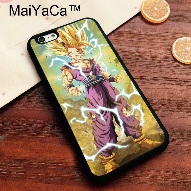 MaiYaCa Dragon Ball Z Gohan DBZ Super Saiyan Soft TPU Skin For IPhone 7 Cover Coque