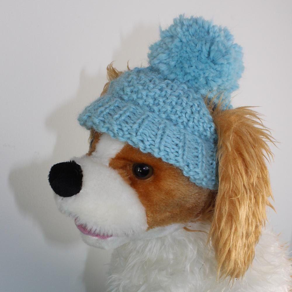 e13bc352935bf FREE Dog Bobble Beanie FREE Knitting pattern by madmonkeyknits