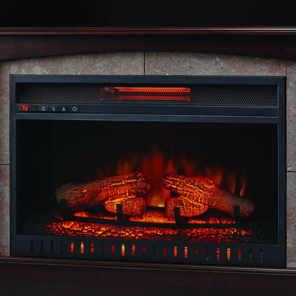 Home Decorators Collection Bellevue Park 59 In Media Console Infrared Electric Fireplace In Dark Brown Electric Fireplace Fireplace Home Decorators Collection