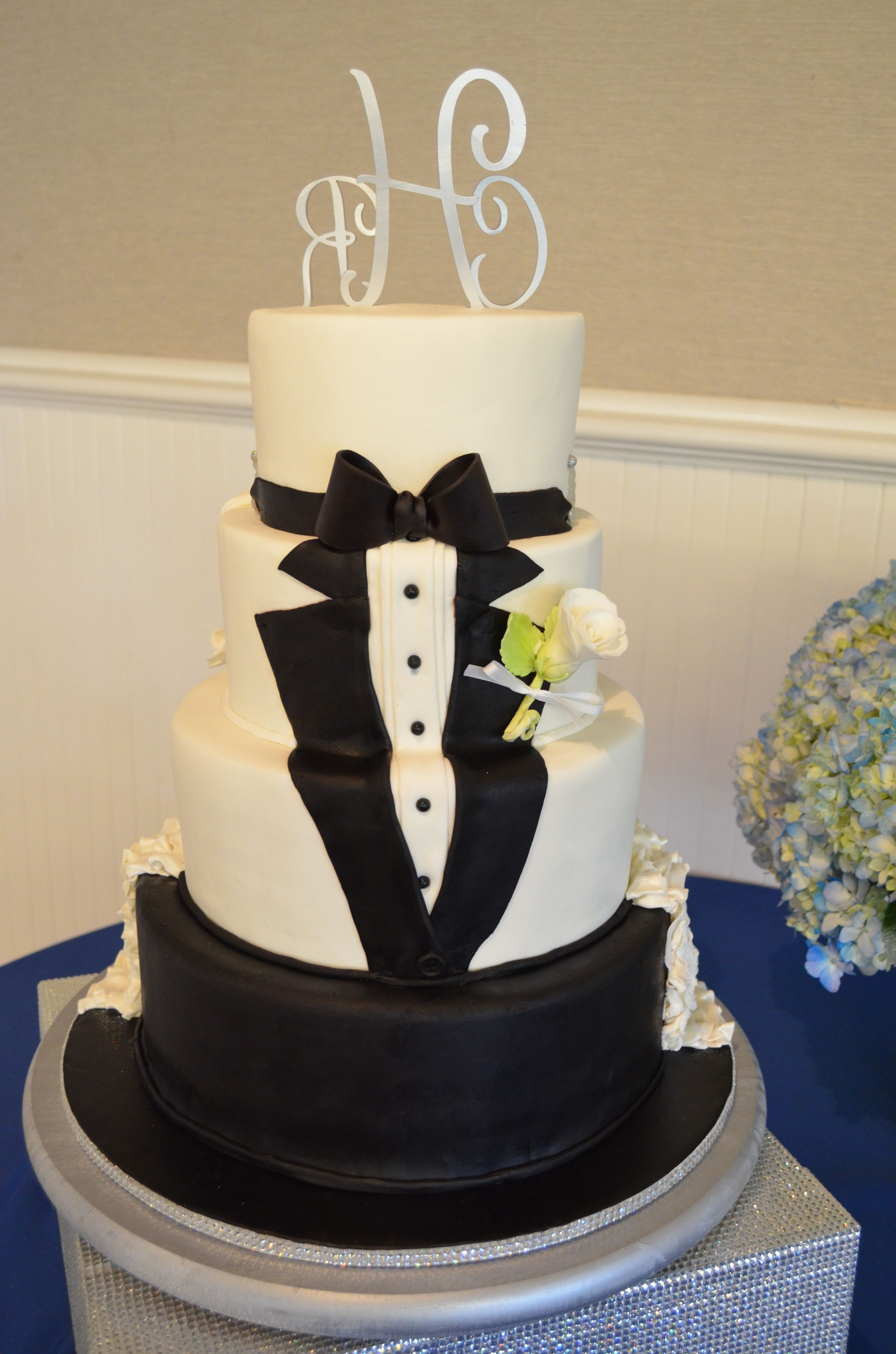 Tuxedo Wedding Cake Half Cake Gay Wedding Cakes