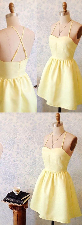 Short homecoming dress homecoming dress short yellow