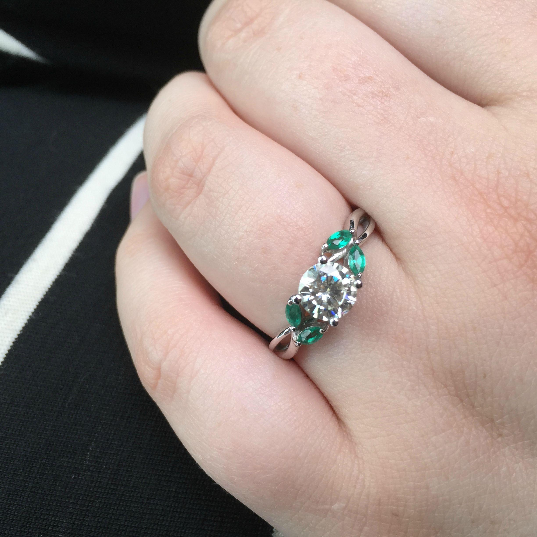 Moissanite Engagement ring - Imgur | Fancy jewelry | Pinterest
