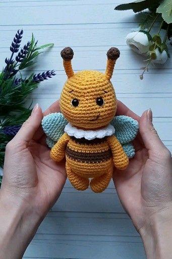 Photo of Amigurumi bumblebee PATTERRN, crochet pattern bee, amigurumi pattern animals, crochet toy pattern bumblebee