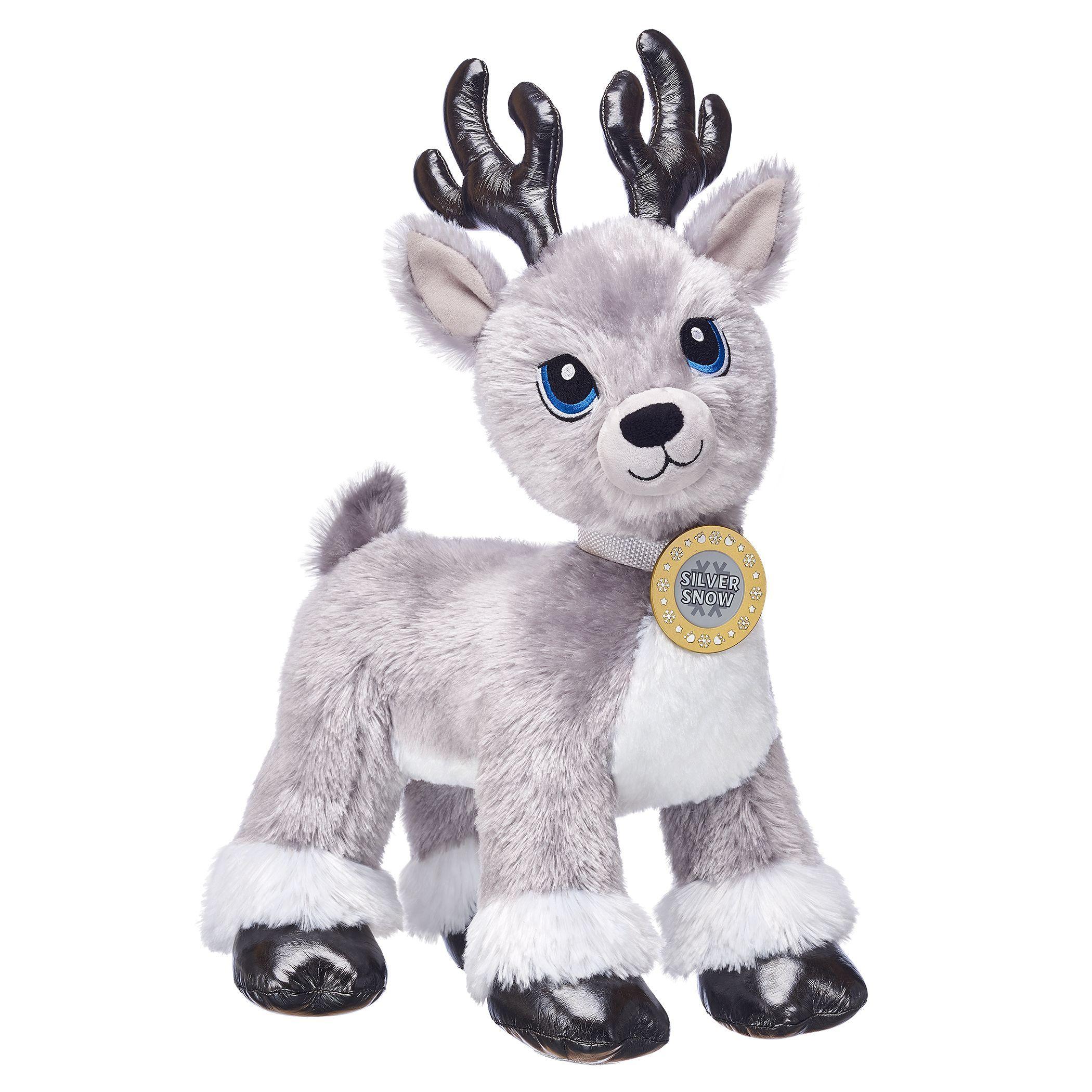 Silver Snow With Medallion Build A Bear Reindeer Build A Bear Ty Stuffed Animals