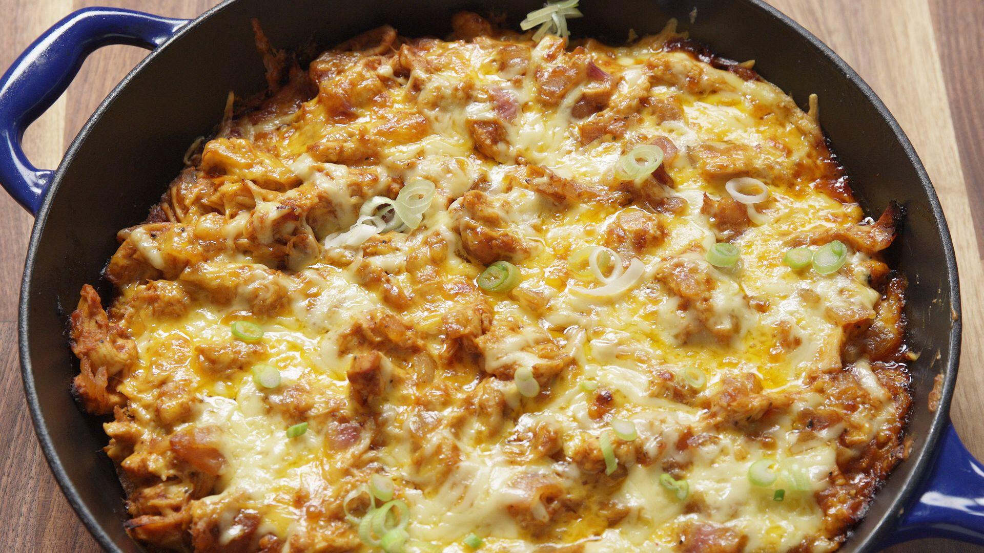 Bbq Chicken Cornbread Skillet  Recipe  Food Recipes -8703