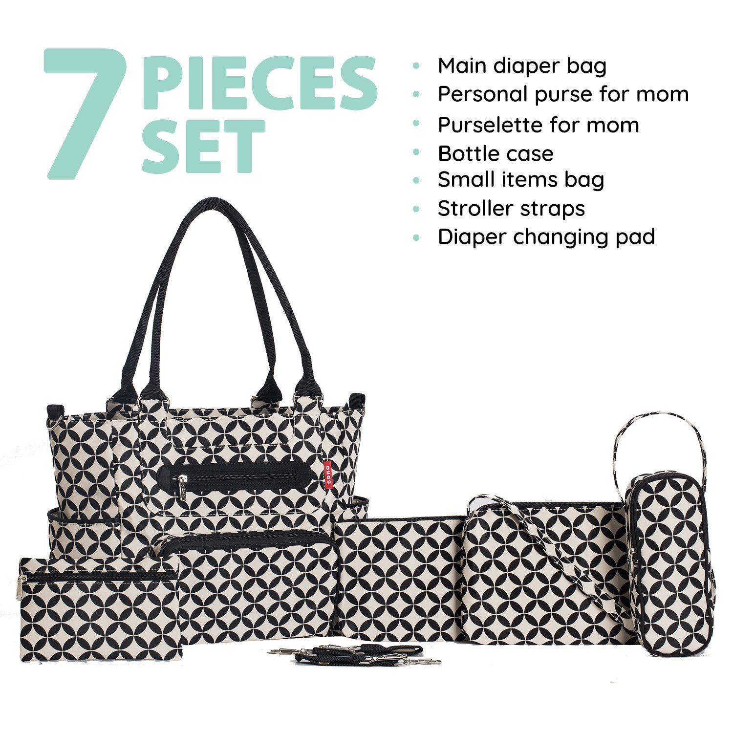 3e178a7983d5b Soho Designs Grand Central Station 7 pieces Diaper Bag * Click image to  review more details.-It is an affiliate link to Amazon. #DiaperBags