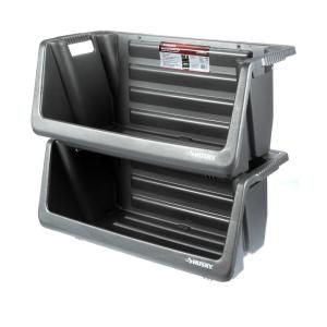 Husky Stackable Storage Bin 212327 At The Home Depot Mobile
