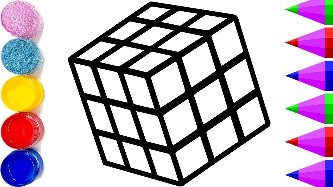 Rubik S Cube Drawing And Coloring Pages How To Draw A Cube