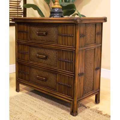 Best Polynesian Three Drawer Chest In Antique This Polynesian 640 x 480
