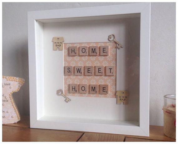 home sweet home scrabble frame new home by buttonnbutterflies