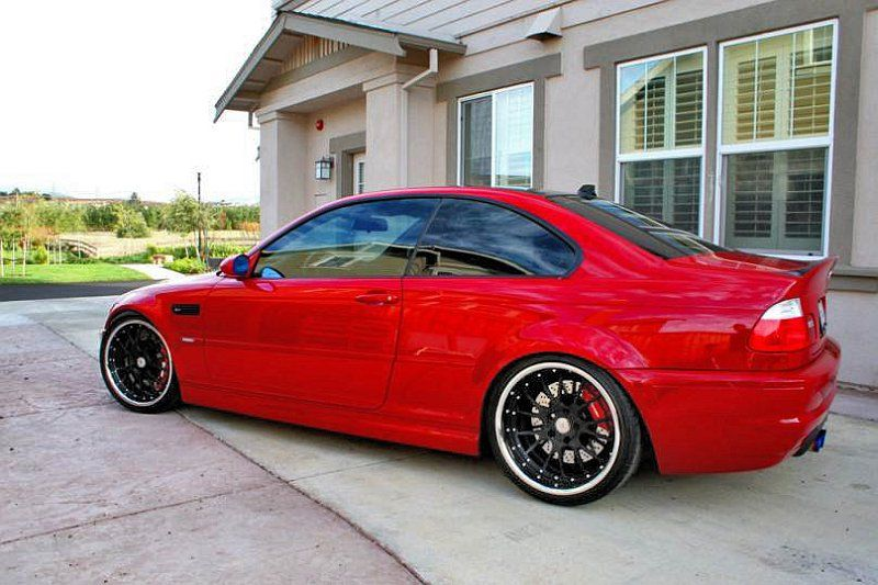 Red And Black Rims For Sale Wheels St7 Bmw E46 3