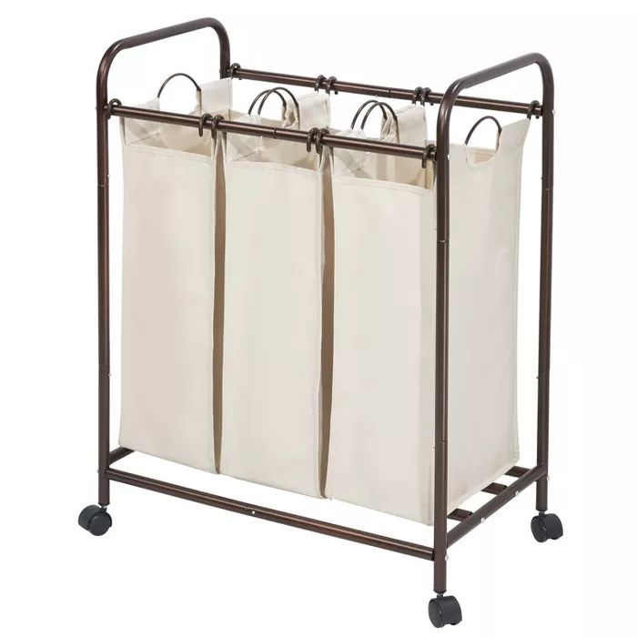 Interdesign Laundry Sorter 3 Bag Bronze Cream In 2020 With Images
