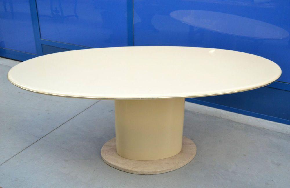 Tavolo Ovale ~ Tavolo ovale con basamento in marmo lungo cm tavolo