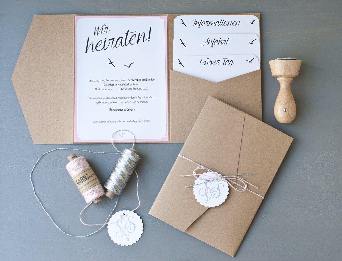 Unsere Hochzeitseinladungen Katiehemmer Wedding Invitations