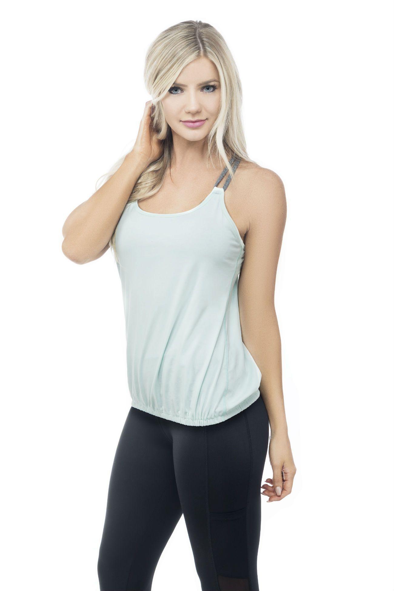 MFF Cross Back Tank Mint Supportive sports bras, Fashion