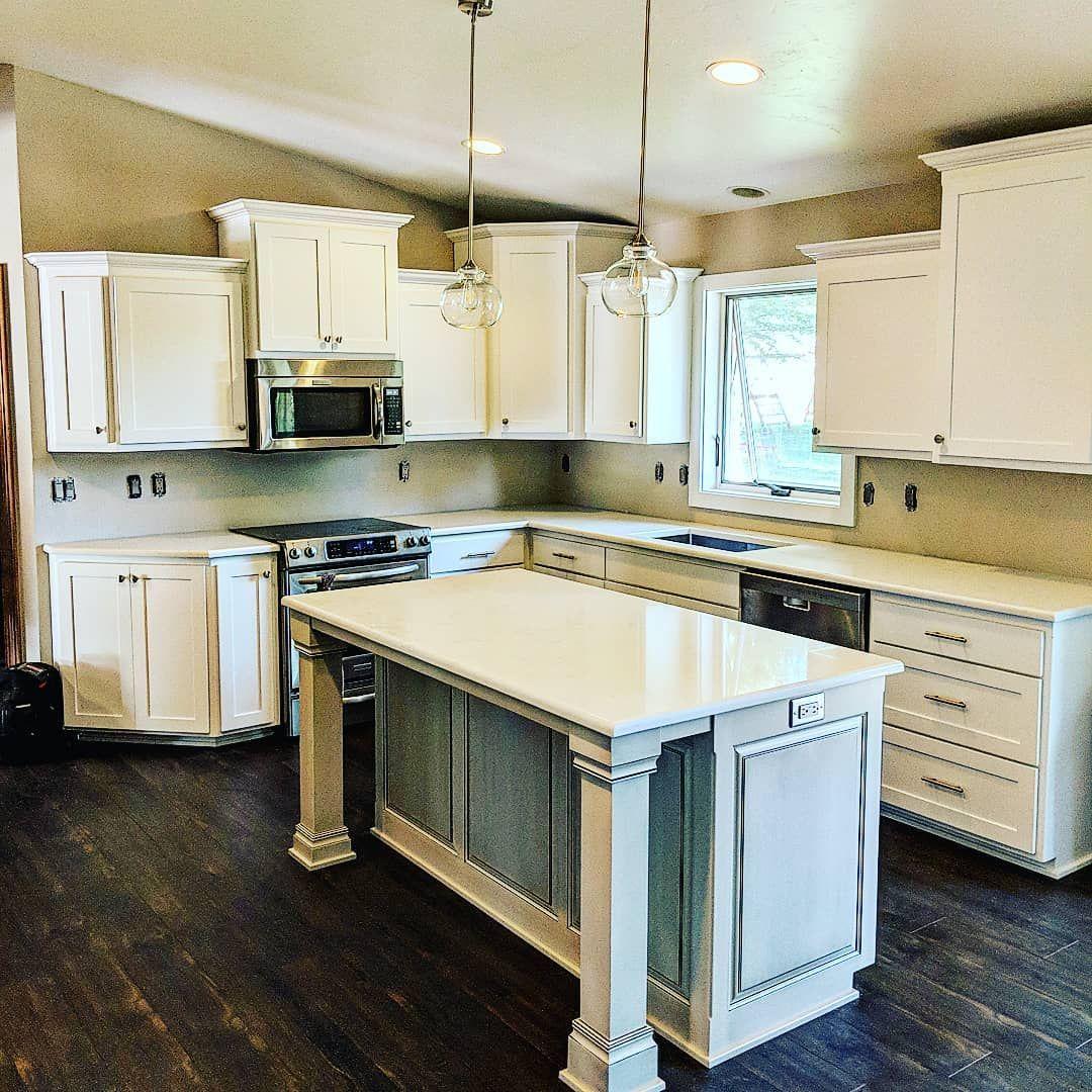Quick Kitchen Remodel Staggered Kitchen Cabinets Kitchen Remodel Custom Kitchen Cabinets