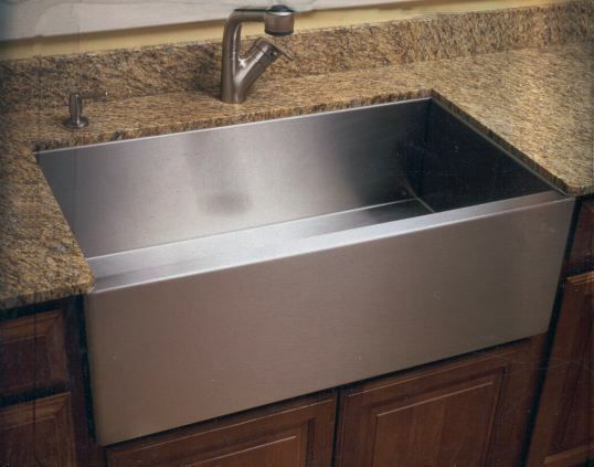Stainless Steel farmhouse sink = a must when we redo the kitchen ...