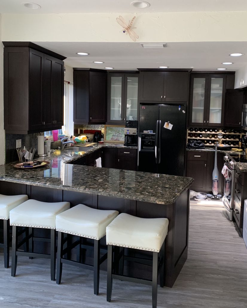 Redo Kitchen Cabinet Doors: For The Expresso Finish Lovers...kitchen Refacing With