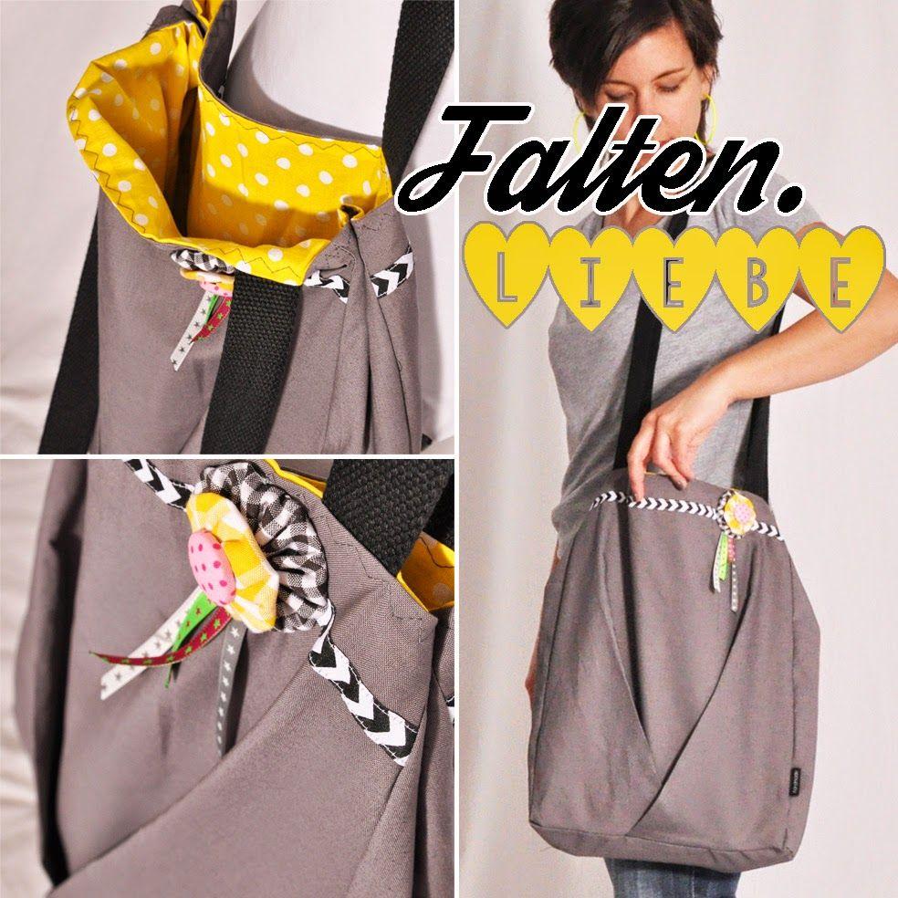 leni pepunkt | Freebook Tasche mit Falten | bags und allerlei ...