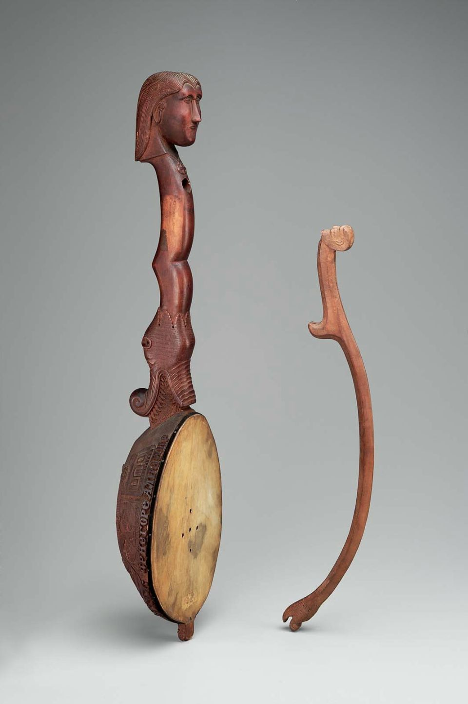 Fiddle (gusle) and bow late 19th century Serbia