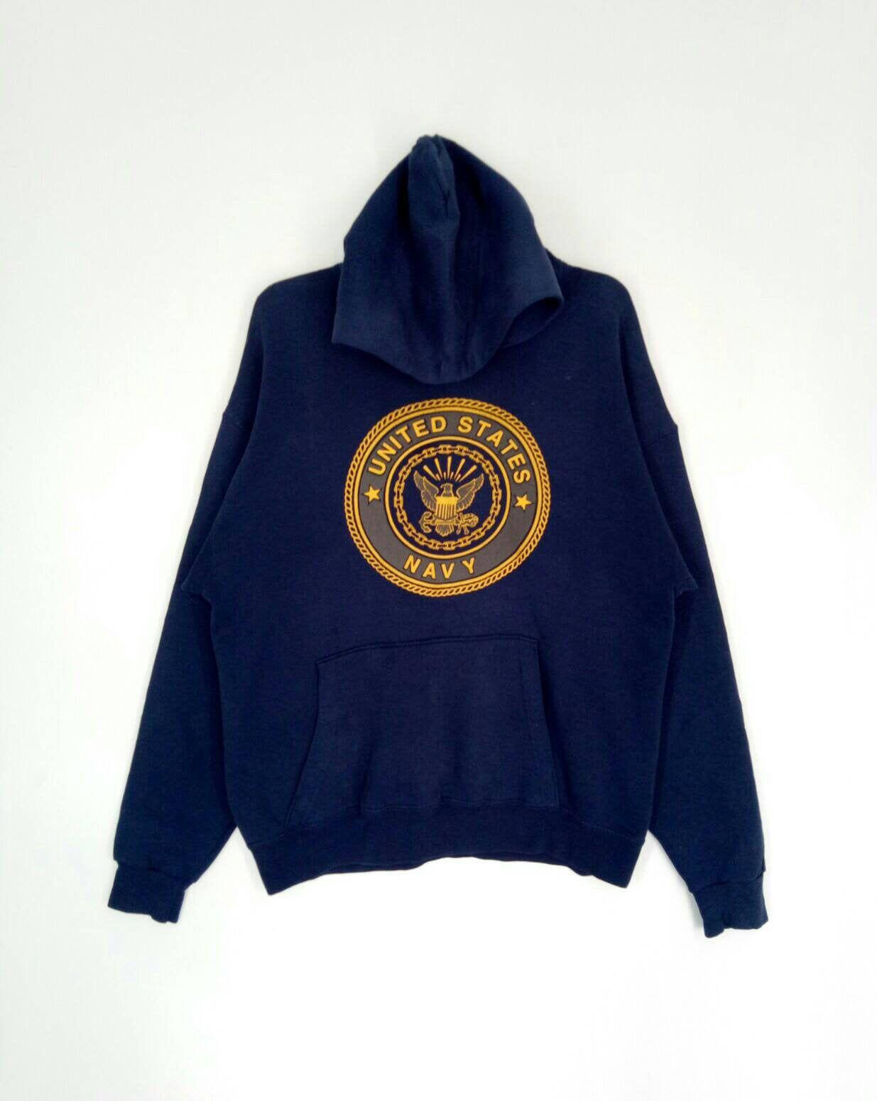Rare United States Navy Hoodies Nice Design Large Size Etsy Navy Hoodie Used Clothing Hoodies [ 1550 x 1235 Pixel ]