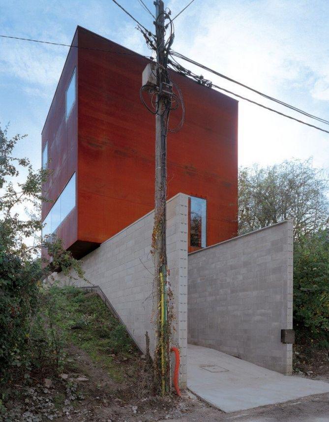 Maison en acier Corten, Pierre Hebbelinck   Houses   Pinterest   Cor ...