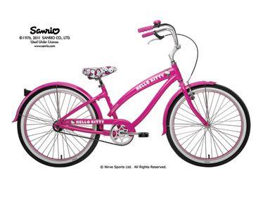 f34ab319f3e Nirve.com - Women's Stylish Beach Cruiser Bikes 24 inch pink Hello Kitty