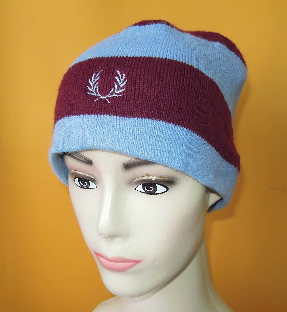 e39860fdb8faf9 Fred Perry Ski Hat Vintage 90s Signature Red Blue Stripe Acrylic Snow Cap  England (6/5) by InPersona on Etsy
