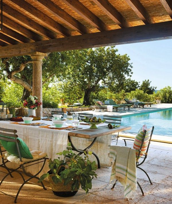 A Villa In Mallorca Beautiful Outdoor Spaces Outdoor Rooms Patio