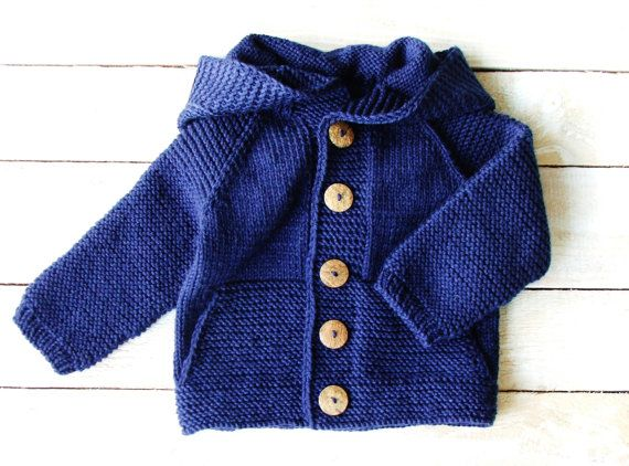 MADE TO ORDER cozy comfy sweater Blue hand knitted sweater hand knitted sweater boy winter knits Toddler fall outfits pure wool