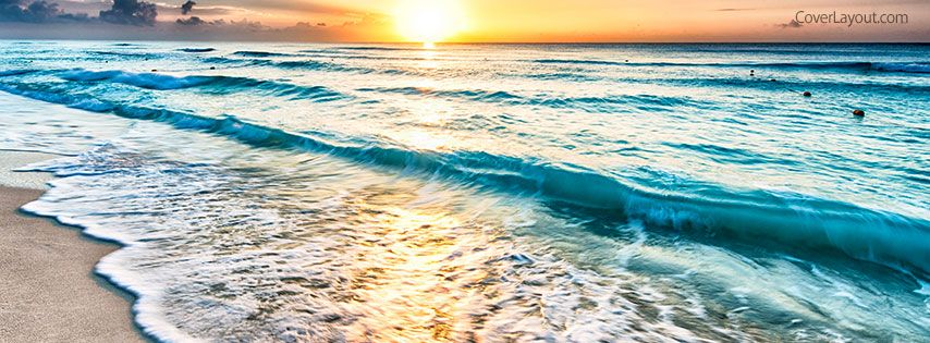 Beach Waves Facebook Cover Summer