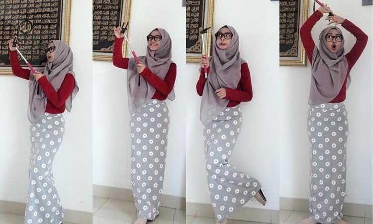 Tutorial Jilbab Pashmina Ala Ria Ricis Kerudung Gaya Hijab Pakaian