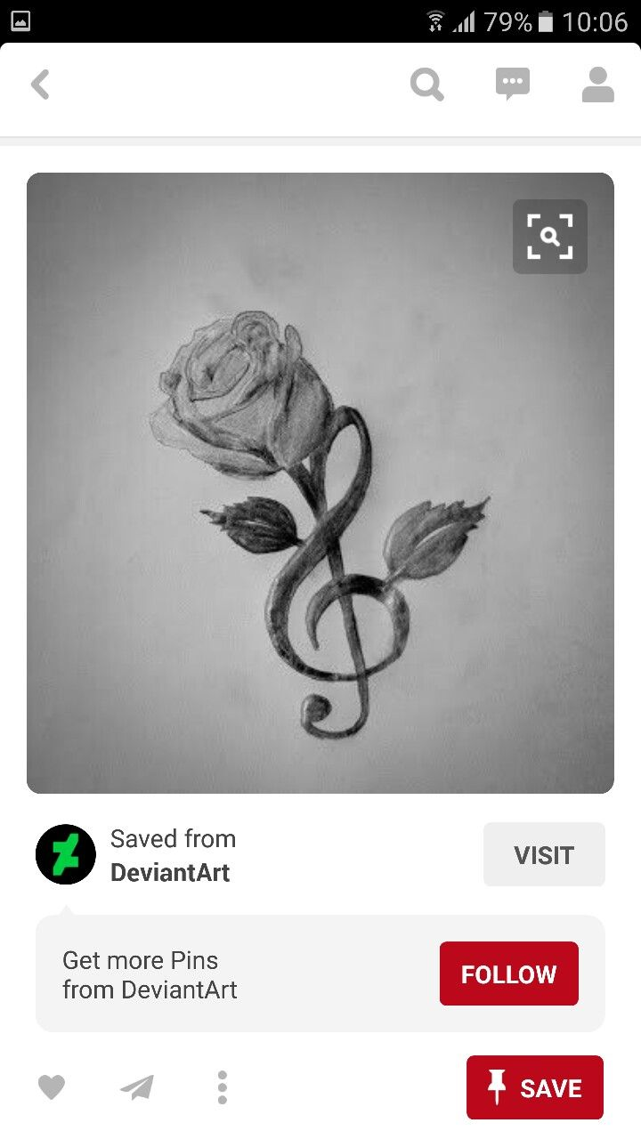 Music Note & Rose | Tattoos | Pinterest | Music notes ...
