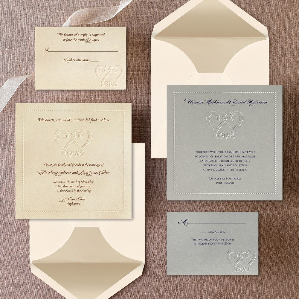 Two Hearts, One Love Wedding Invitation | #exclusivelyweddings ...