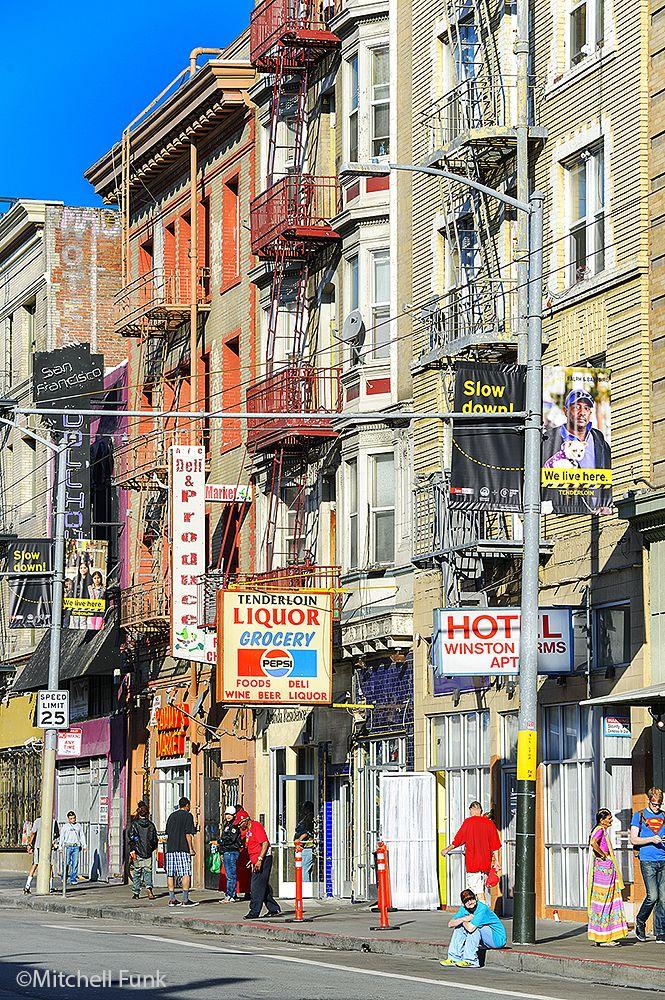 Turk Street In The Tenderloin San Francisco Mitchellfunk