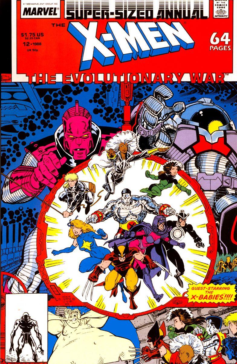 The Uncanny X Men Annual Vol 1 12 Cover Art By Arthur Adams Rick Parker Marvel Comics Art Marvel Comic Books Marvel Comics Covers