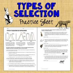 Types of selection ap biology