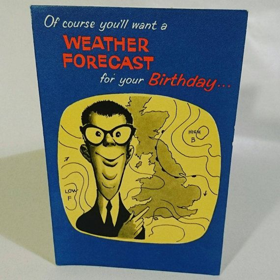 Funny Vintage Birthday Card / Greetings Card For Him