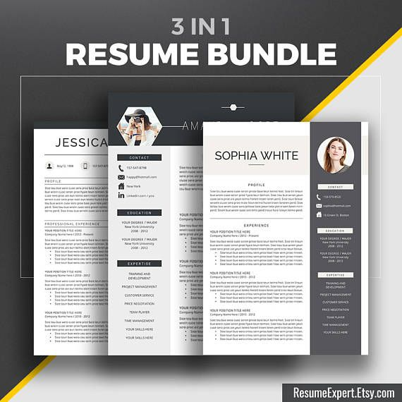 2020 Professional Resume Templates Cv Bundle Compatible With Etsy