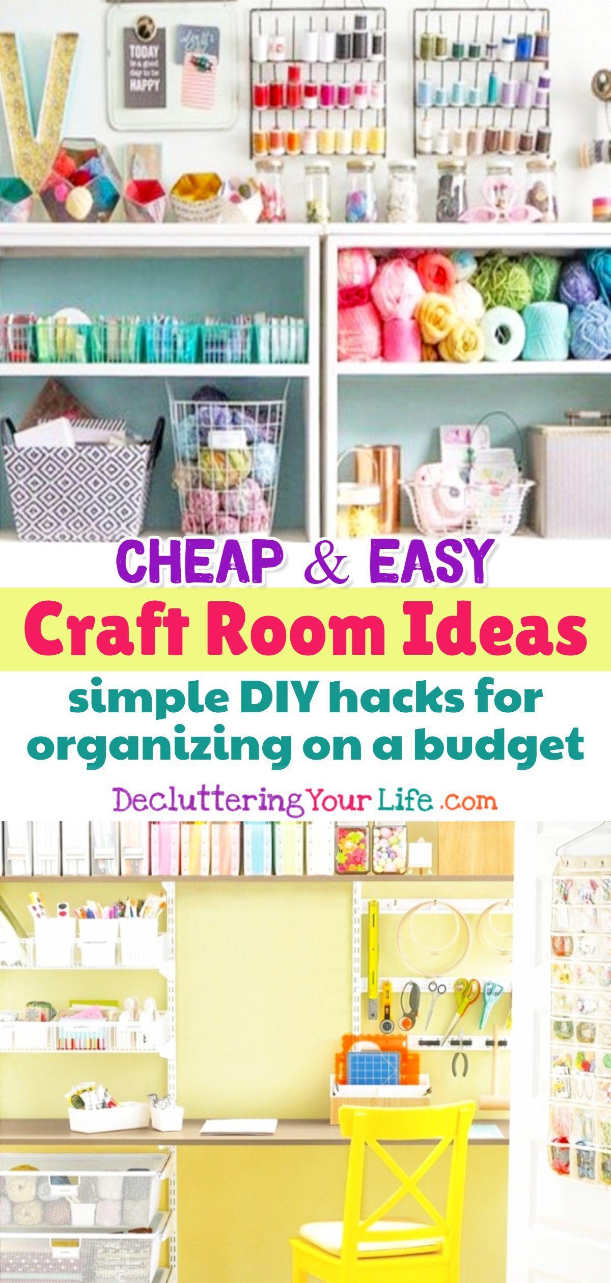 Craft Room Ideas Organizing On A Budget Diy Craft Room Ideas For