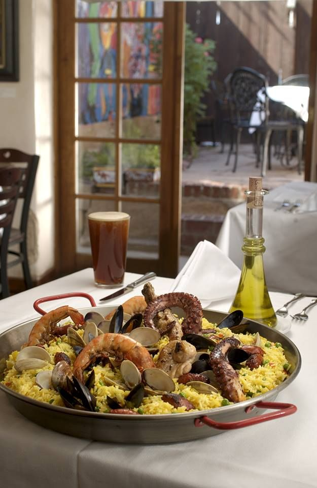 Try our delicious Paella tonight while listening to the sounds of live music from Nacha Mendez and Co.! Music begins at 7pm. No cover and 20% off on all food!