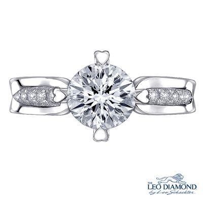 18K/750 白色黃金 鑽石鑲嵌 戒指