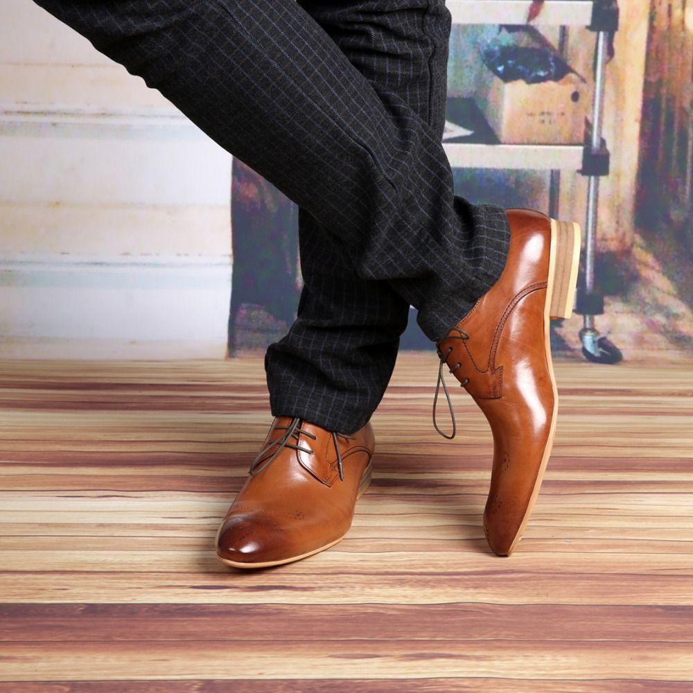 e8876f995c7 Formal Brown Wedding Shoes For Men