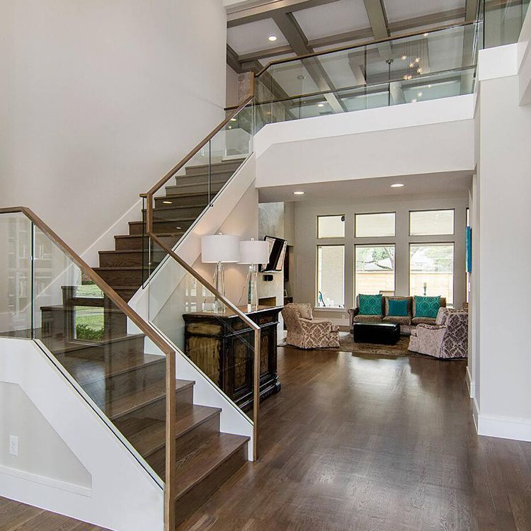 Aluminum Alloy Stair Glass Railing Prices For Philippines Market | Glass Railing For Stairs Price | Curved Glass Balustrade | China | Spiral Staircase | Frameless Glass | Cable Railing
