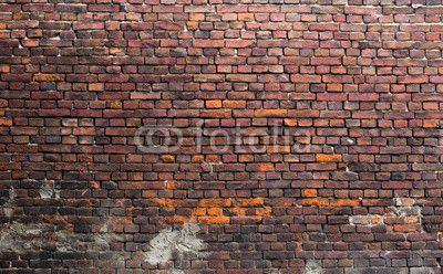 Old Brick Wall Brick Wallpaper Mural Red Walls