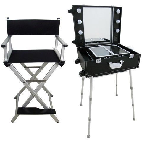 Mobile Beauty Station And Folding Chair 250