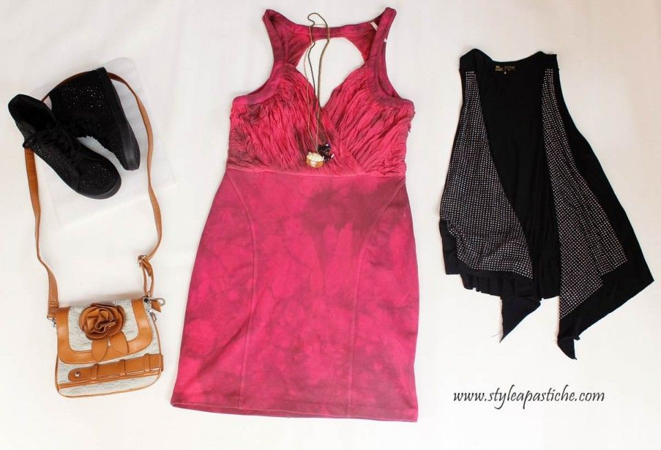#Grunge Red Tie-Dye Dress for Valentine's Day http://bit.ly/SAPVDyTy #OOTD #FashionBloggers #StreetStyle #VDay #ValentinesDay