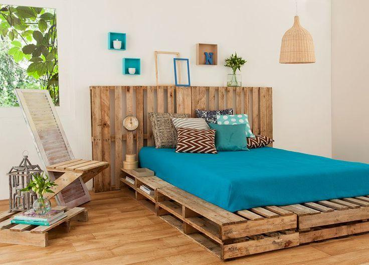 palets materiales de diseño marco de la cama dormitorio upcycling ...