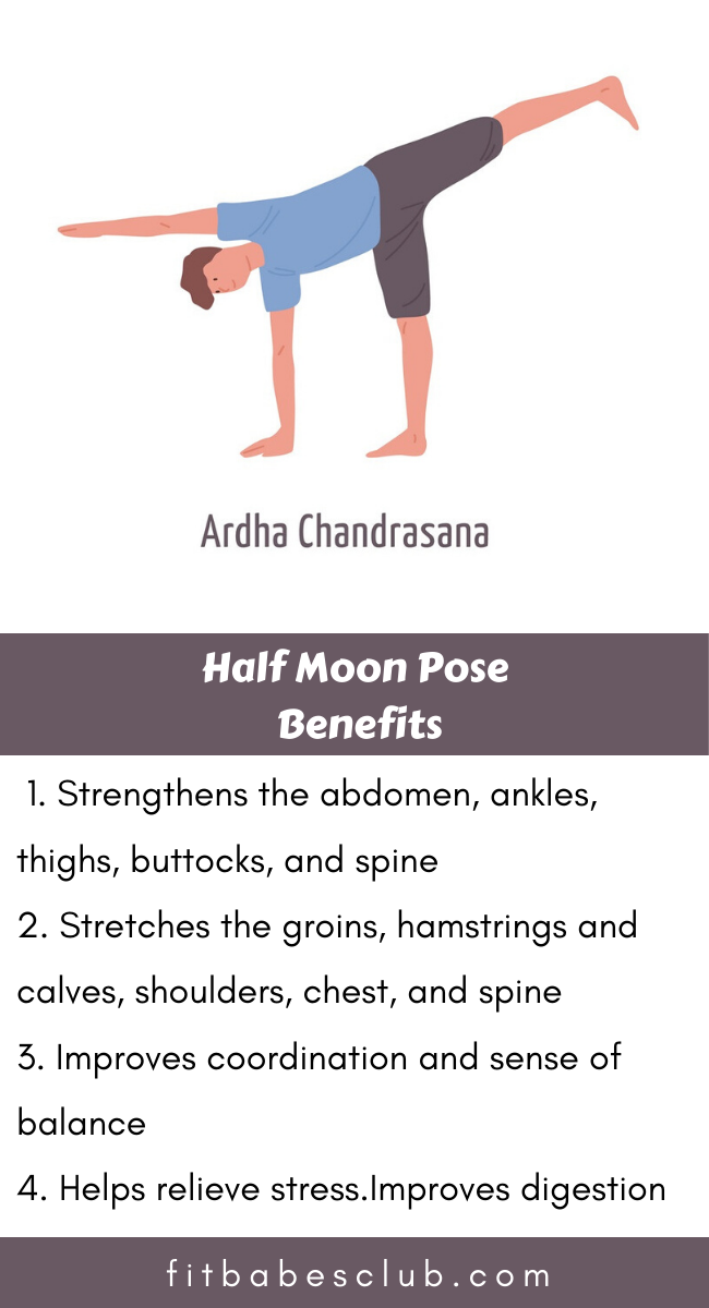 How To Do Half Moon Pose And Benefits How To Do Yoga Workout For Beginners Yoga Fitness