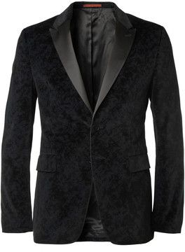 8bbad5dba PS by Paul Smith Slim-Fit Printed-Velvet Tuxedo Blazer on shopstyle.co.uk